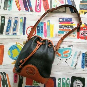 Dooney & Bourke Drawstring Bucket Bag Black AWL